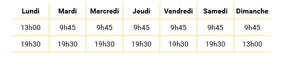 Tableau-horaire